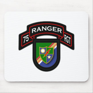 75th Ranger Rgt - scroll & flash Mouse Pad