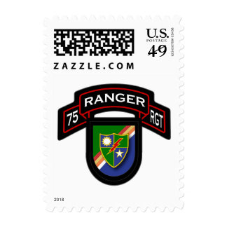 75th Ranger Rgt - scroll & flash Postage