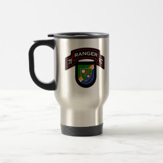 75th Ranger Rgt - scroll & flash Travel Mug