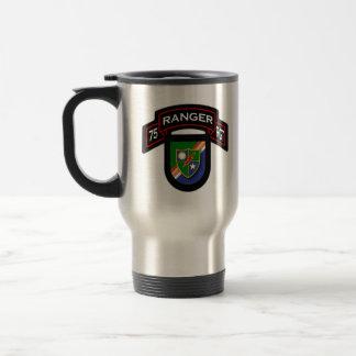 75th Ranger Rgt - scroll & flash Travel Mug