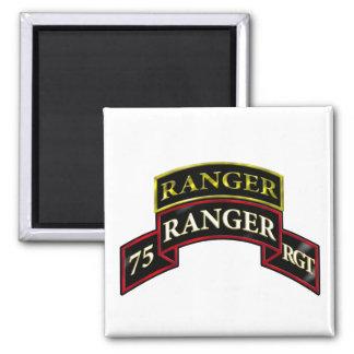 75th Ranger w/Tab 2 Inch Square Magnet