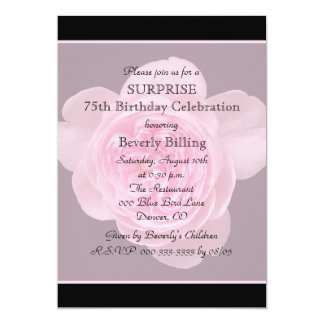 75th Surprise Birthday Party Invitation Rose