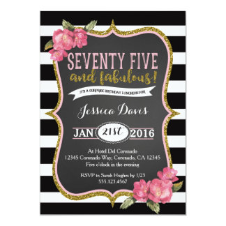 Surprise 75th Birthday Party Invitations & Announcements | Zazzle