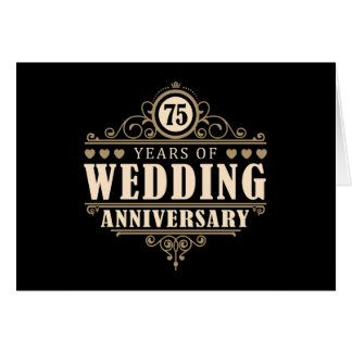 75th Wedding Anniversary Card