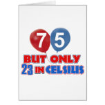 75th year old birthday designs greeting card