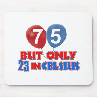 75th year old birthday designs mouse pad