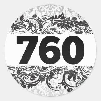 760 PEGATINA REDONDA