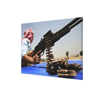 762 mm rounds lie on the truck stretched canvas print