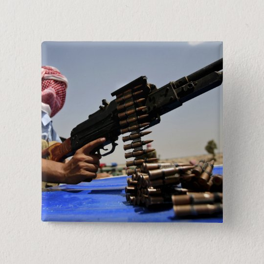762 mm rounds lie on the truck pinback button
