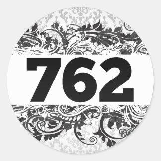 762 CLASSIC ROUND STICKER