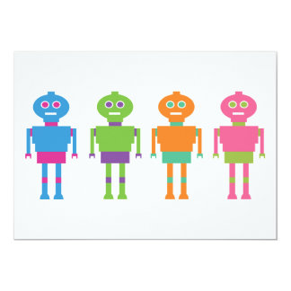 764 COLOURFUL FUN ROBOTS CARTOONS CARD