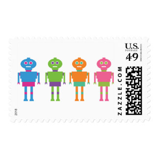 764 COLOURFUL FUN ROBOTS CARTOONS POSTAGE