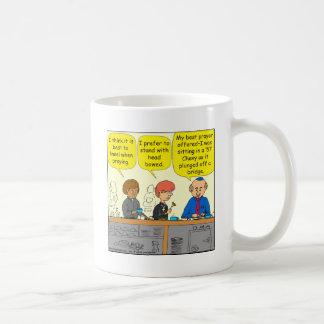 764 praying in a 57 chevy coffee mug