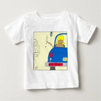 765 No GMO smoking lady Baby T-Shirt