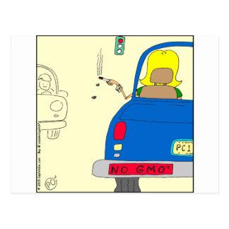 765 No GMO smoking lady Postcard