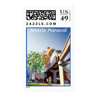 76773656703, monorrail de Seattle Estampilla