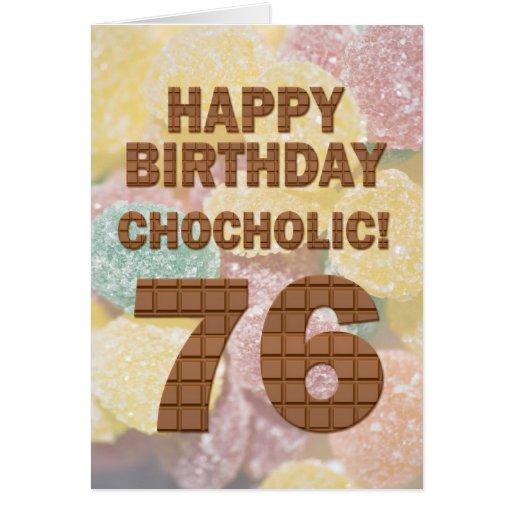 76.a tarjeta de cumpleaños de Chocololic