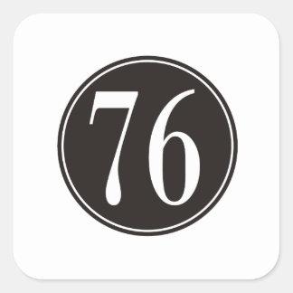 #76 Black Circle Square Sticker