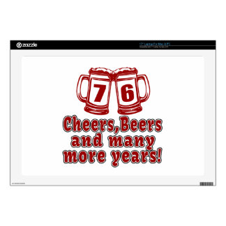 76 Cheers Beer Birthday Laptop Decal