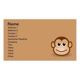 76-Free-Cute-Cartoon-Monkey-Clipart-Illustration Business Card