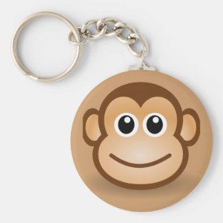 76-Free-Cute-Cartoon-Monkey-Clipart-Illustration Keychain