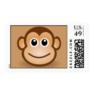 76-Free-Cute-Cartoon-Monkey-Clipart-Illustration Postage