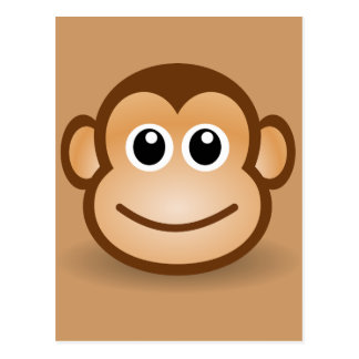 76-Free-Cute-Cartoon-Monkey-Clipart-Illustration Postcard