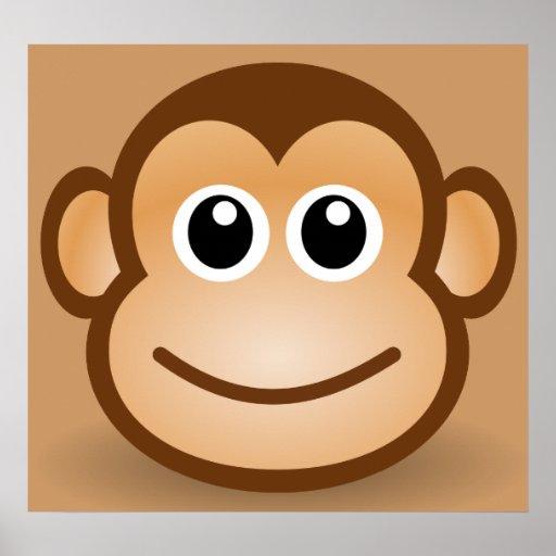 76 free cute cartoon monkey clipart illustration poster