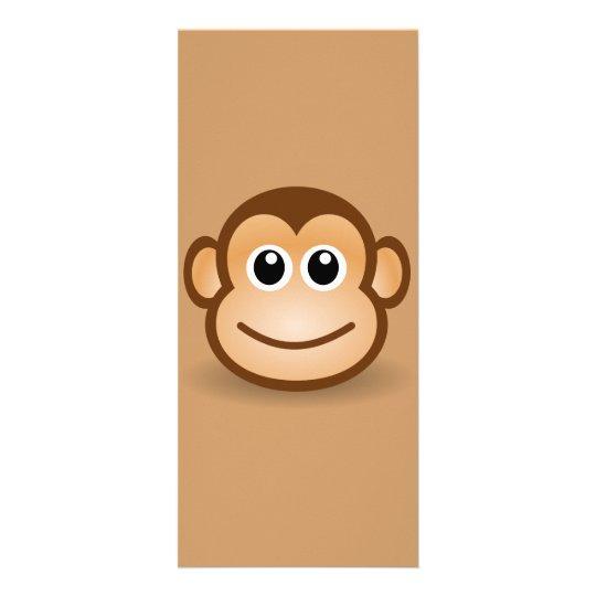 76-Free-Cute-Cartoon-Monkey-Clipart-Illustration Rack Card