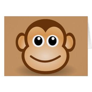 76-Free-Cute-Cartoon-Monkey-Clipart-Illustration Tarjeta De Felicitación
