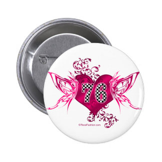 76 number pink racing buttons
