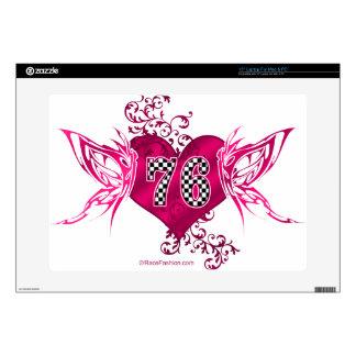 76 number pink racing skins for laptops