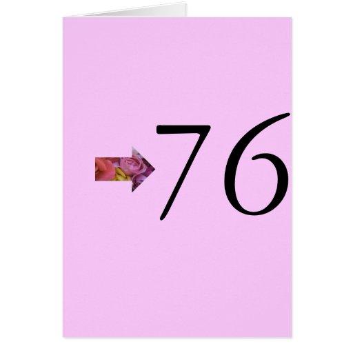 76.o Cumpleaños Tarjeta De Felicitación