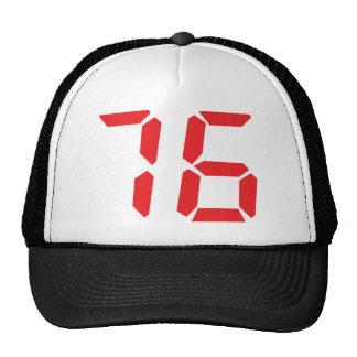 76 setenta y seis números digitales del despertado gorras