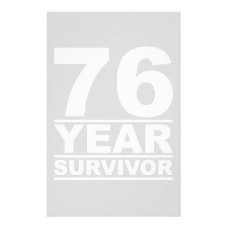 76 year survivor stationery