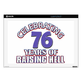 76 years of raising hell skin for laptop