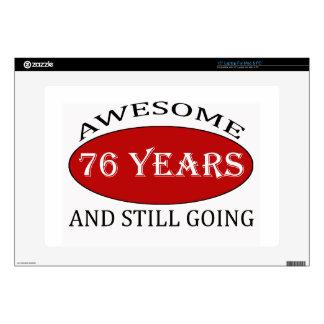 76 years old birthday designs laptop skin