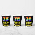 [ Thumbnail: 76th Birthday: Colorful, Fun, Exciting, Rainbow 76 ]