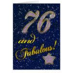 76th Birthday party Invitation Cards