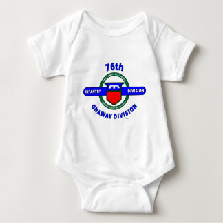 "76TH INFANTRY DIVISION ""ONAWAY DIVISION"" BABY BODYSUIT"