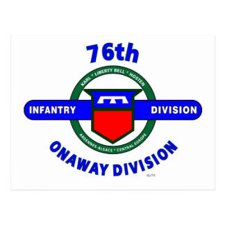 """76TH INFANTRY DIVISION """"ONAWAY DIVISION"""" POSTCARD"""