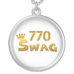 770 Georgia Swag Round Pendant Necklace