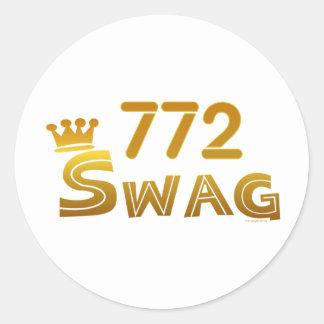 772 Florida Swag Classic Round Sticker