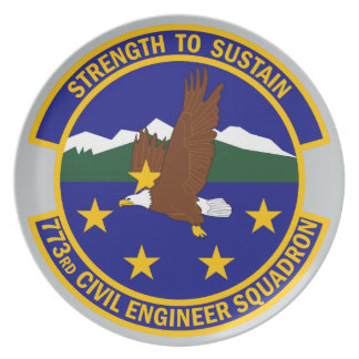 773rd Civil Engineer Squadron Dinner Plate