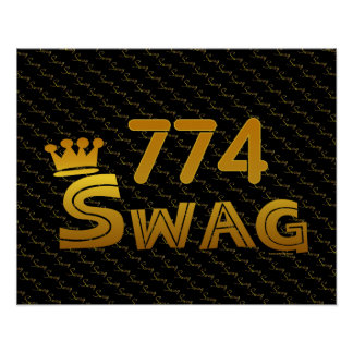 774 Area Code Swag Print