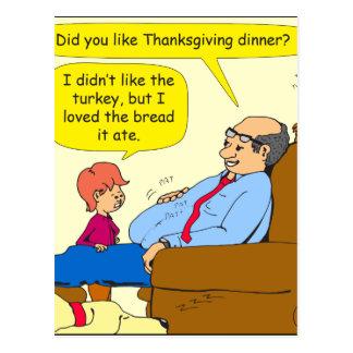 775 Like thanksgiving dinner cartoon Postcard