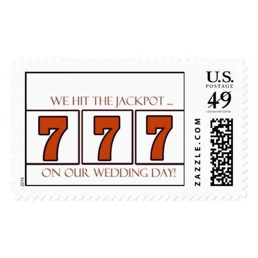 777 070707 sellos que se casan para su día de boda
