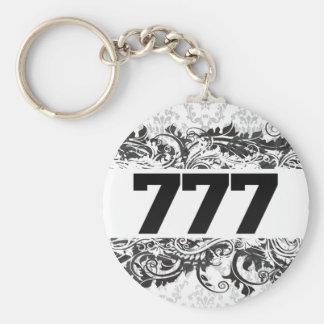 777 BASIC ROUND BUTTON KEYCHAIN
