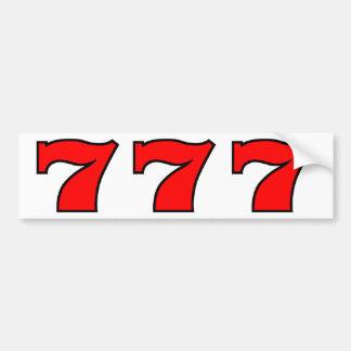 777 CAR BUMPER STICKER