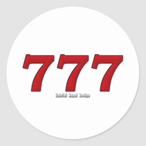 777 CLASSIC ROUND STICKER